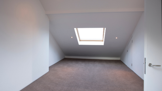 photo of loft room with velux window